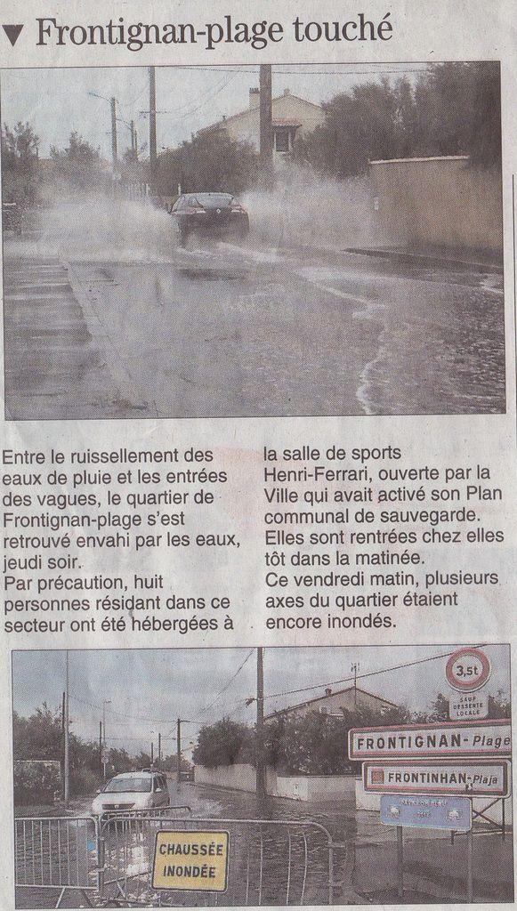 Midi Libre Sète du samedi 15 octobre 2016