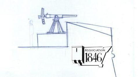 Adaptation du parapet aux canons de 47 mm en 1892-1893.