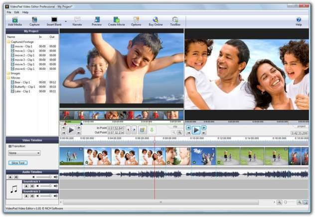 NCH VideoPad Video Editor Professional 4.40 + crack