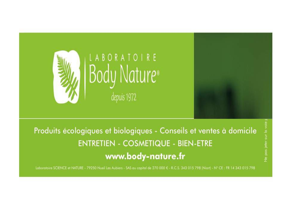 Body nature florence bardon conseill re pour le laboratoire body nature je - Produits body nature ...
