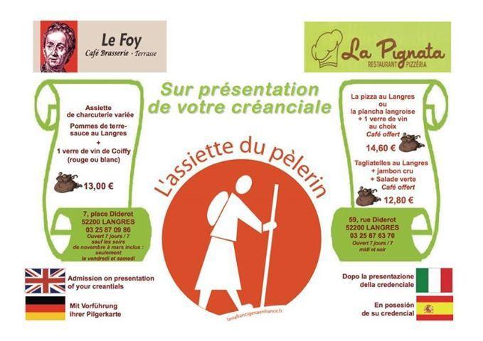 Logo restauration sur la Francigéna
