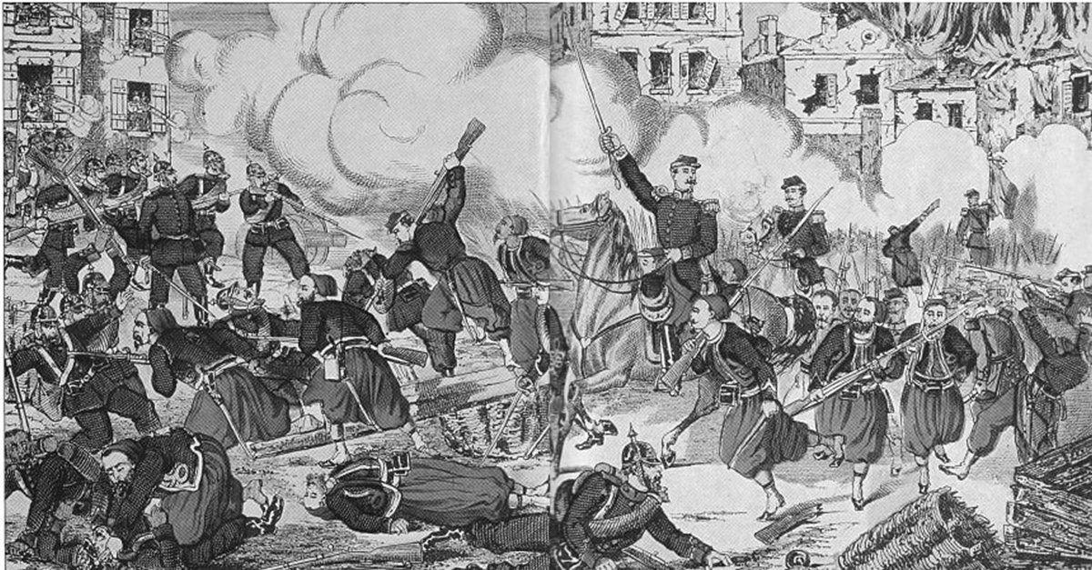 Plan, combats, victoire et destructions dans Villersexel le 9 janvier 1871