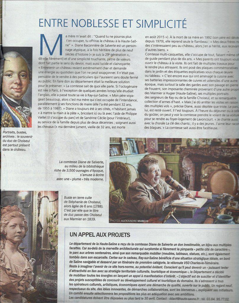 Le Mag. Est Republicain du dimanche 10 avril 2016.
