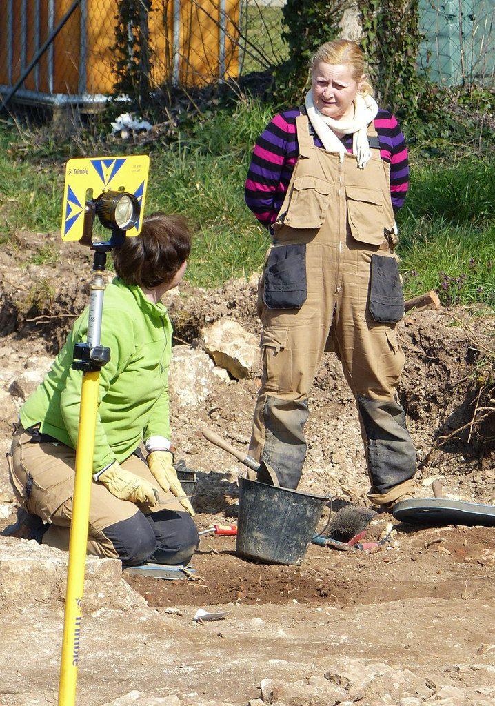Etat des fouilles début mars 2016. Photos P.Mathie.