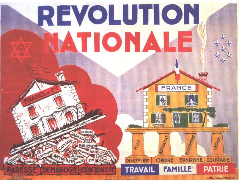 1 Le maréchal Pétain en visite dans une école ( radio). 2 La révolution nationale de Vichy.