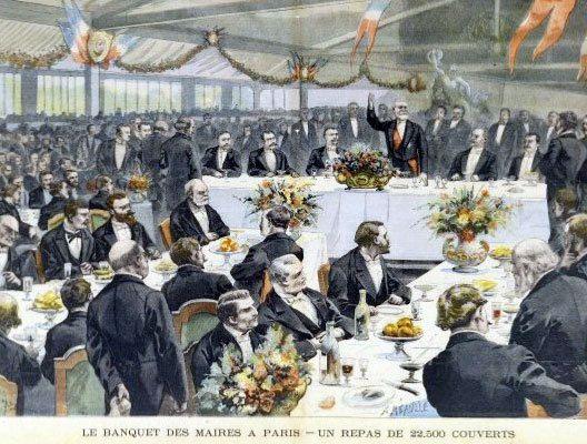 Le repas, conformément aux souhaits du Président Loubet, dura 1h30. Des spectacles de danse et de théâtre furent ensuite donnés.