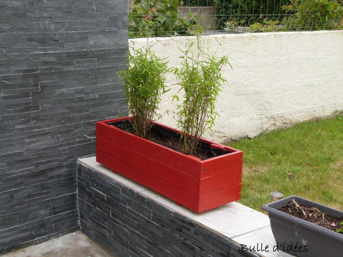 Une jardini re avec une palette bulle d 39 id es - Jardiniere avec palette ...