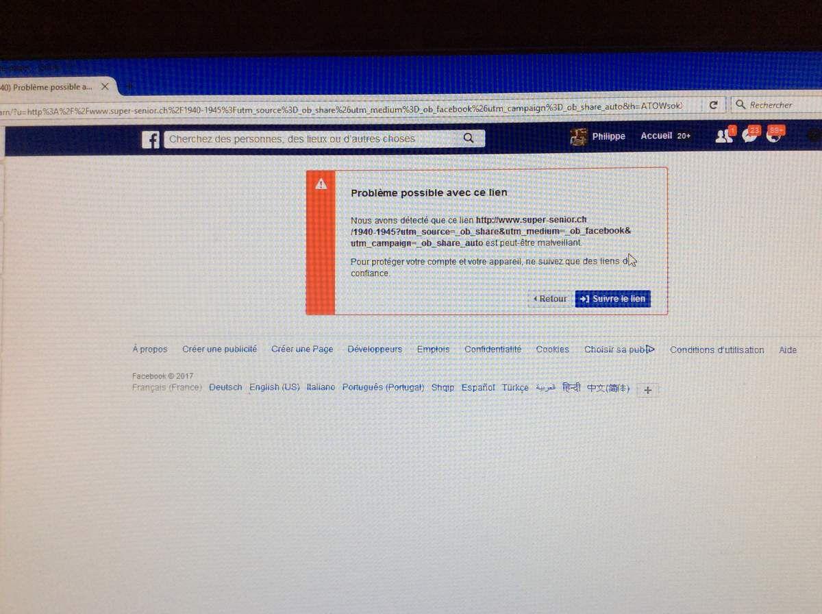 capture écran de mon mur FB ce matin 27 février 2017