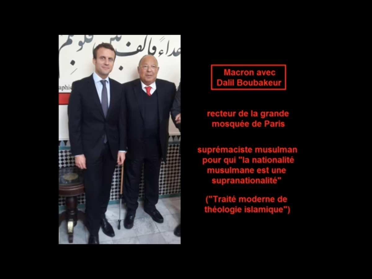 avec le recteur de la mosquée de Paris, Dalil Boubakeur...