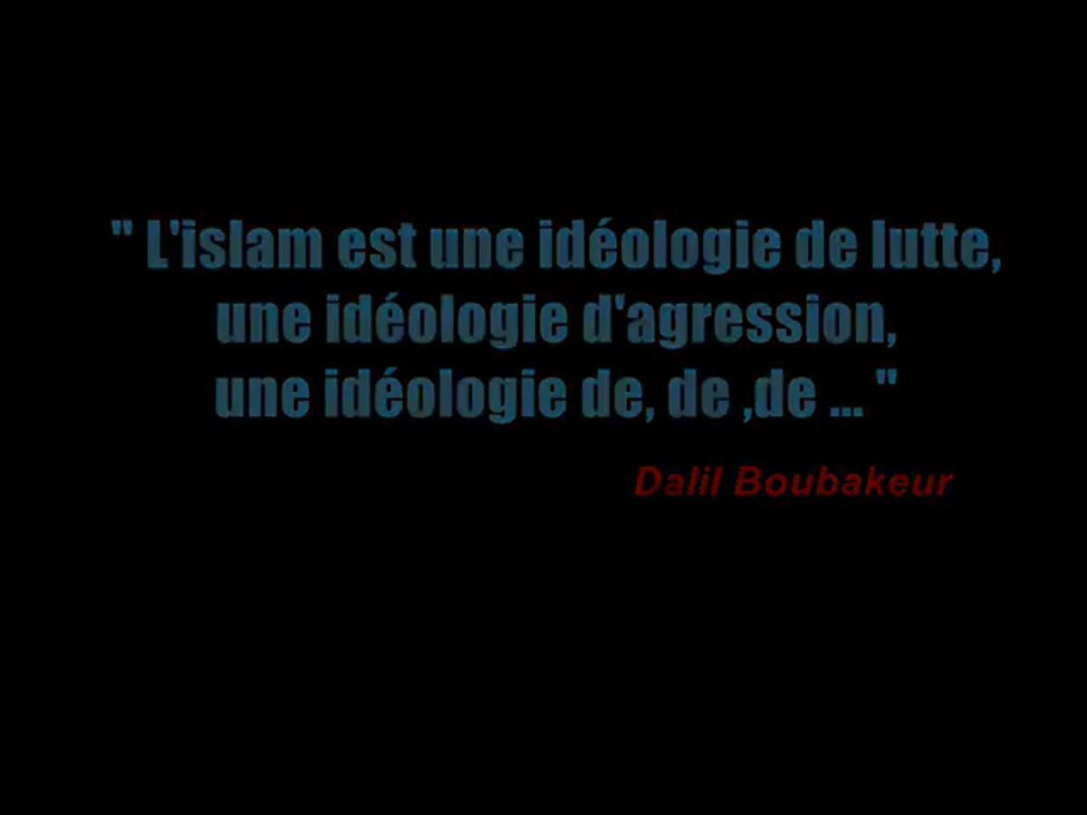 Boubakeur , déchaîné, écoutez svp. L'islam est une idéologie de lutte , d'agression