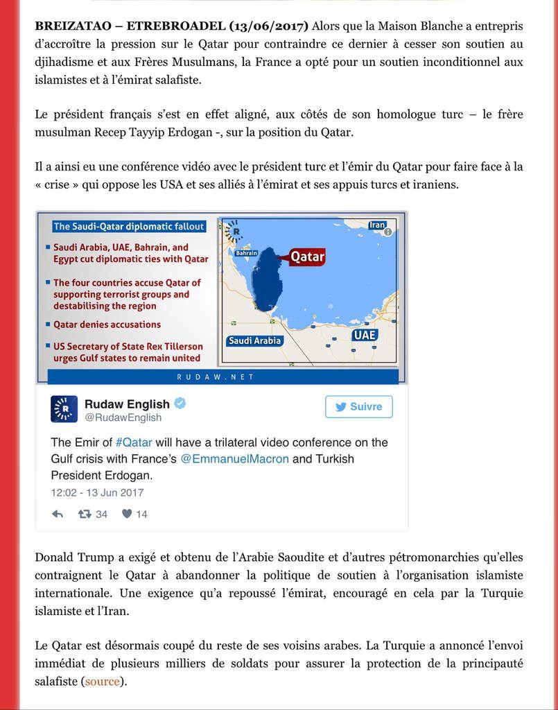 Contre les USA, Macron s'allie aux Frères...