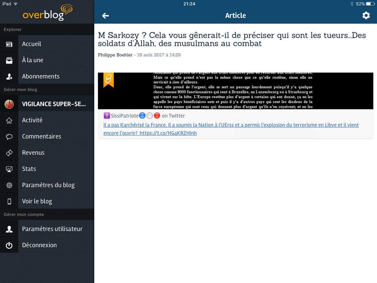 M Sarkozy ?  Cela  vous gênerait-il de préciser qui sont les tueurs...Des soldats d'Allah, des musulmans au combat
