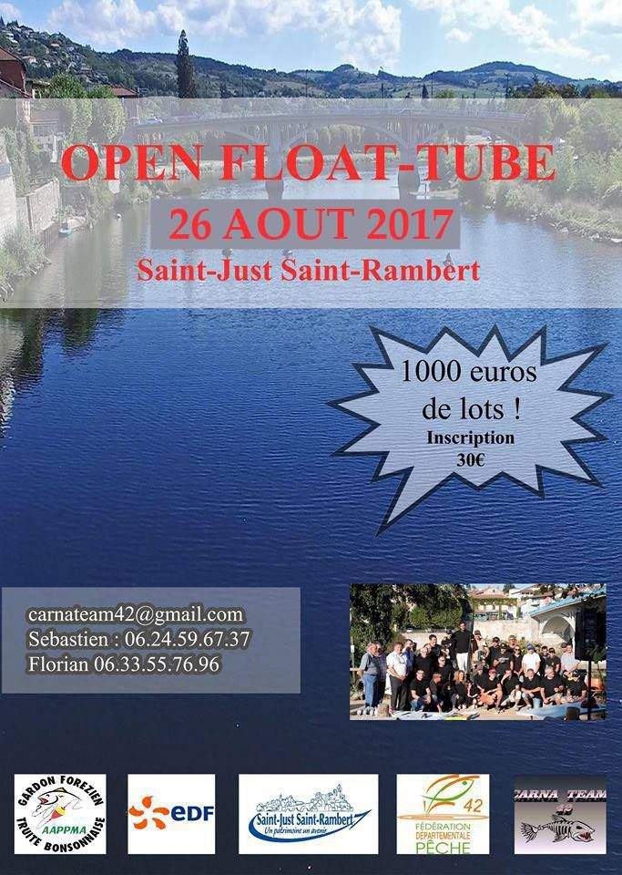 Réglement et inscription du 2 ème Open Float Tube St Just St Rambert Loire