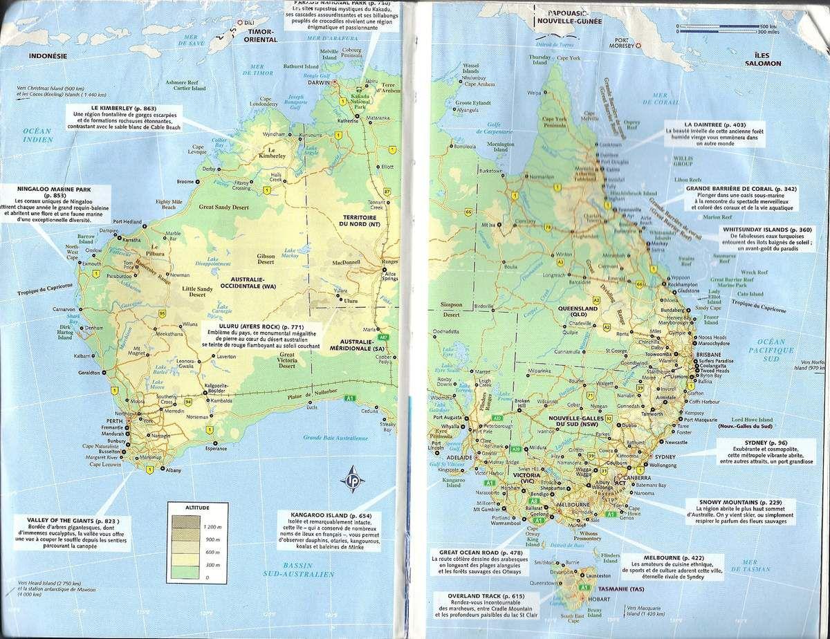 Carte Australie Lonely Planet.Carte D Australie 6 Mois En Cavale