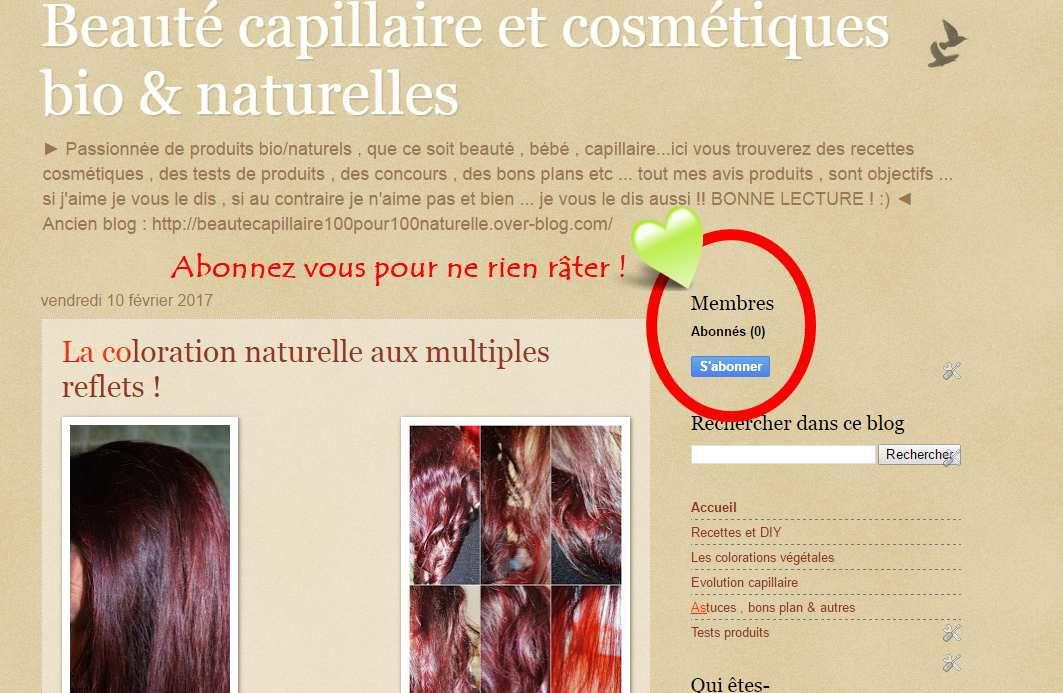 Venez vous abonner au nouveau blog pour ne rien râter ! Kiss ♥