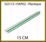 CUTCH professionnel 15cm en plastique 15cm - GO115-15KP02