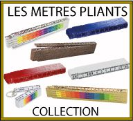 Collection de mètres pliants