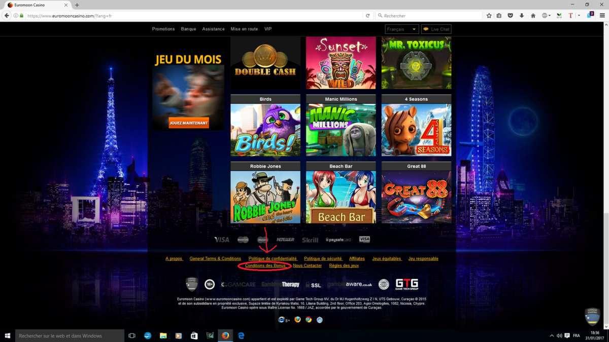 bonus intext 1 heure casino sans conditions de retrait
