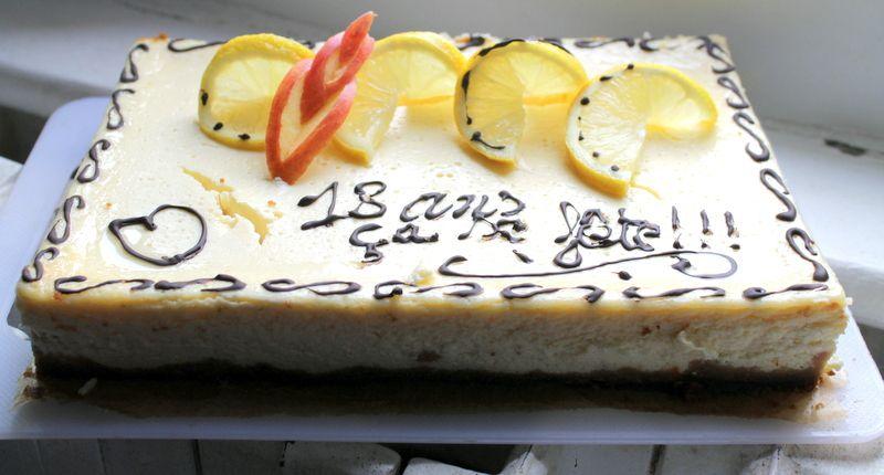 LE CHEESE CAKE AU CITRON