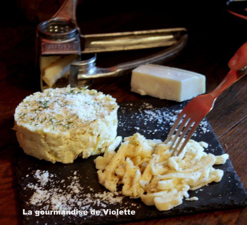 Purée de coeurs d'artichauds au parmesan