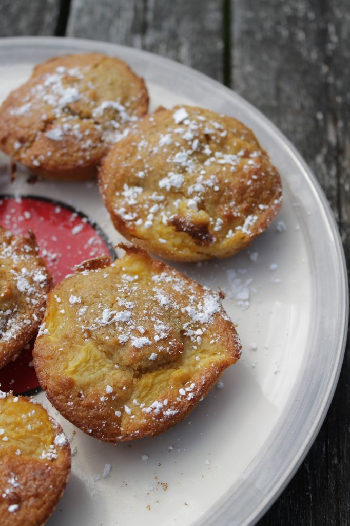 Muffins nectarine et noix de coco