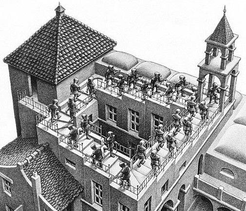 EscherMontée et descente 1960