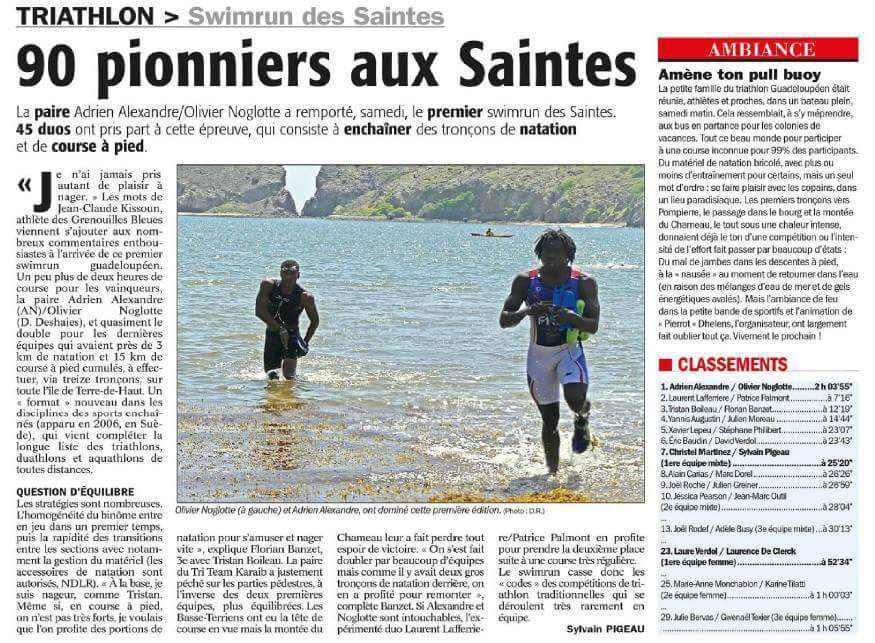 Swim Run aux Saintes