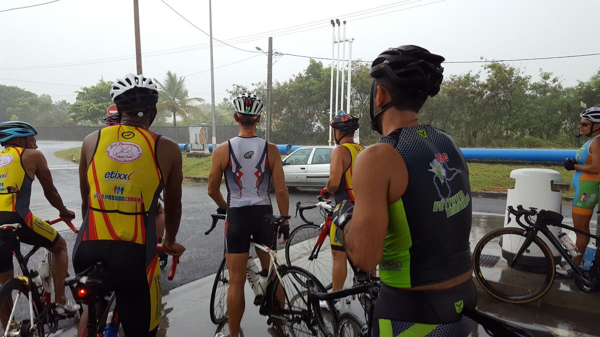 Dimanche 25 juin , triathlon d'entrainement écourté cause pluie +++