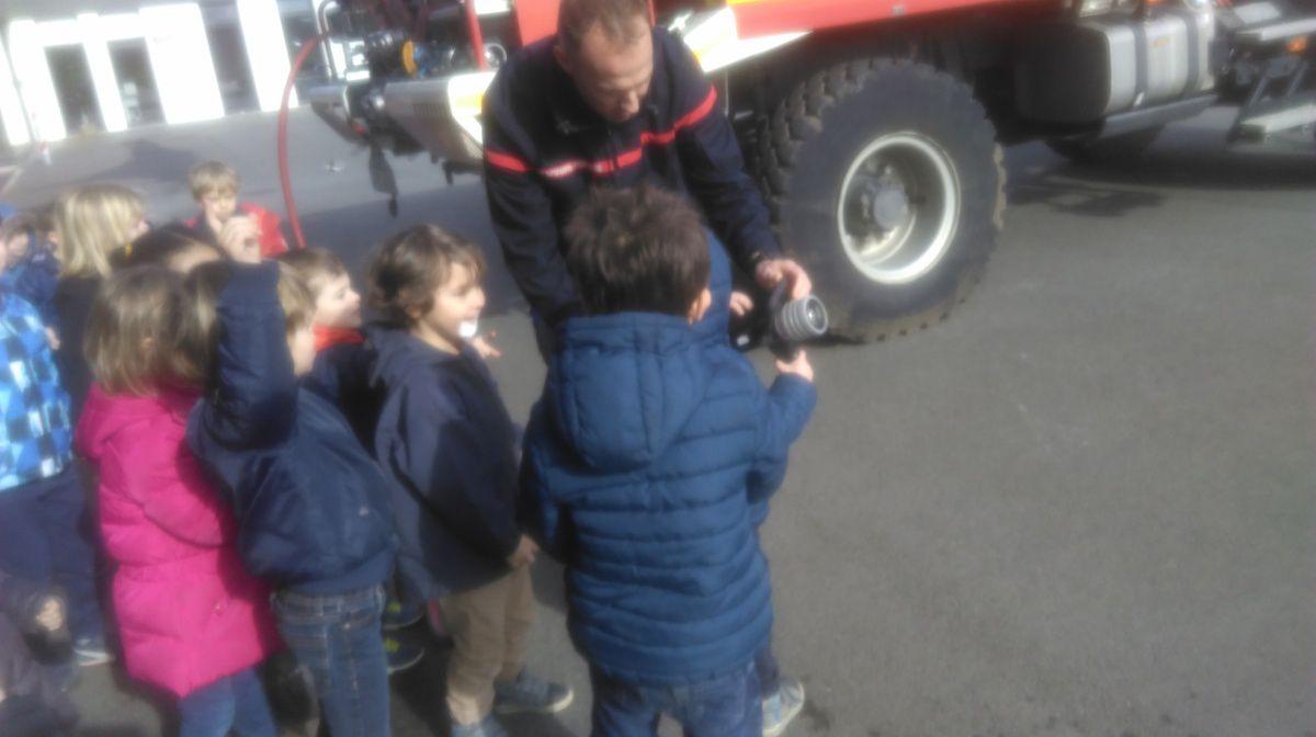 Visite à la caserne de pompier de Ploemeur