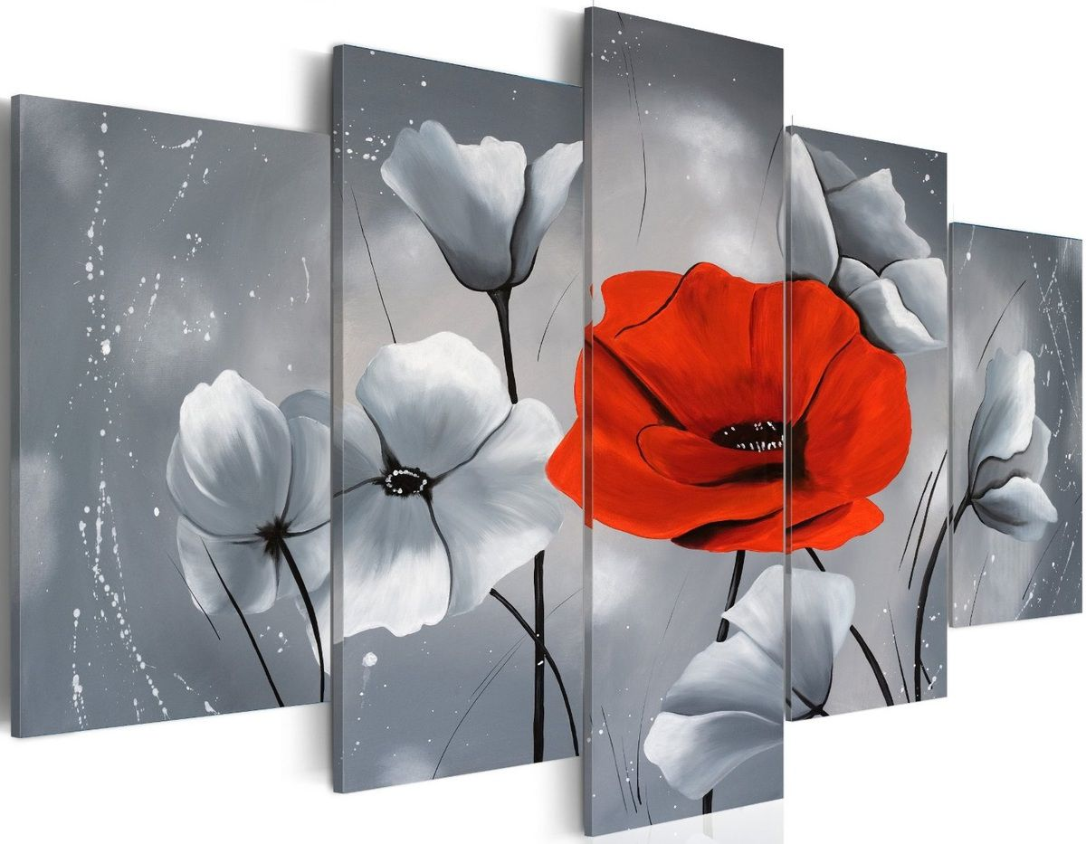 tableau coquelicot rouge 100x50 cm tableaux a coeur. Black Bedroom Furniture Sets. Home Design Ideas