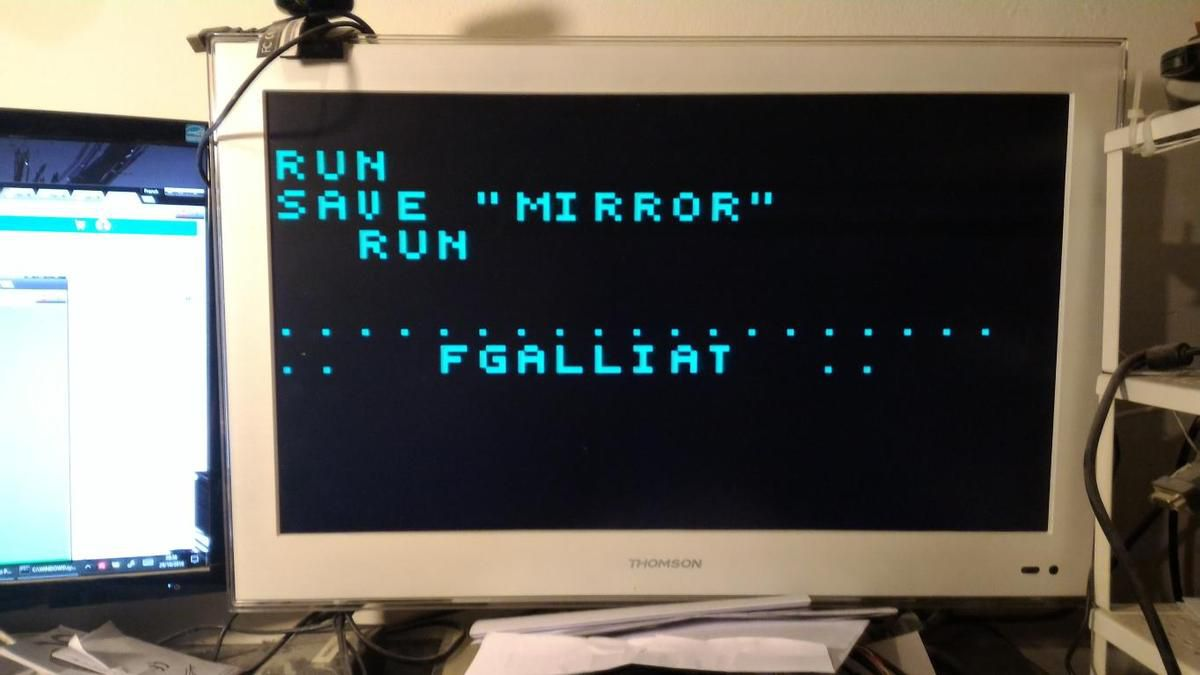 Here U can see some results (@ right : the 'mirror' code run)