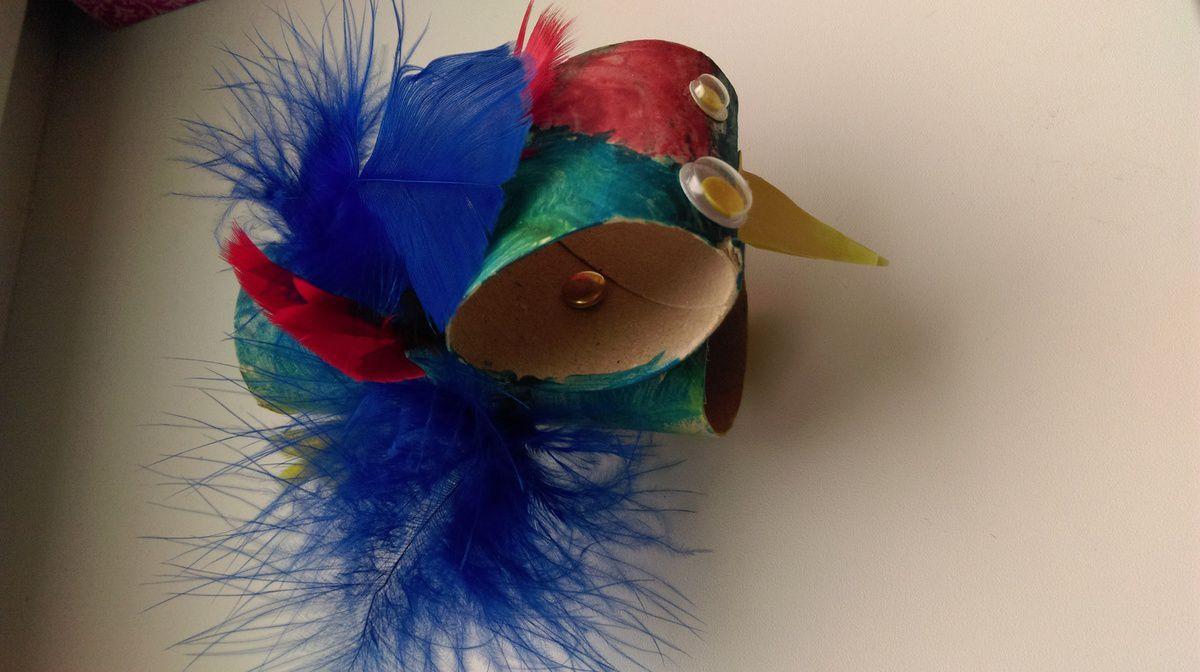 Oiseau à plumes
