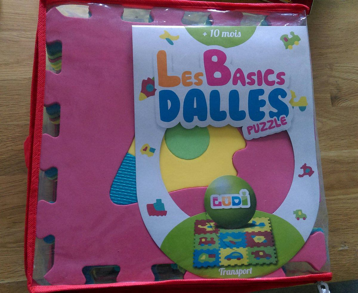 Dalles mousse puzzle Transport Ludi