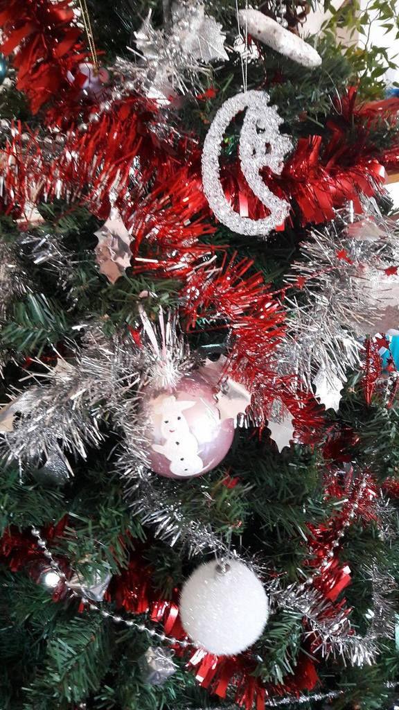 Les premières boules de Noel des loustics