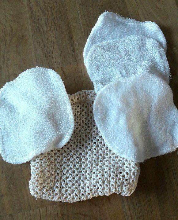 Lingettes lavables eucalyptus avant/après lavage - Les Tendances d'Emma