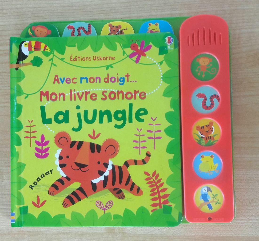 Mon livre sonore La jungle