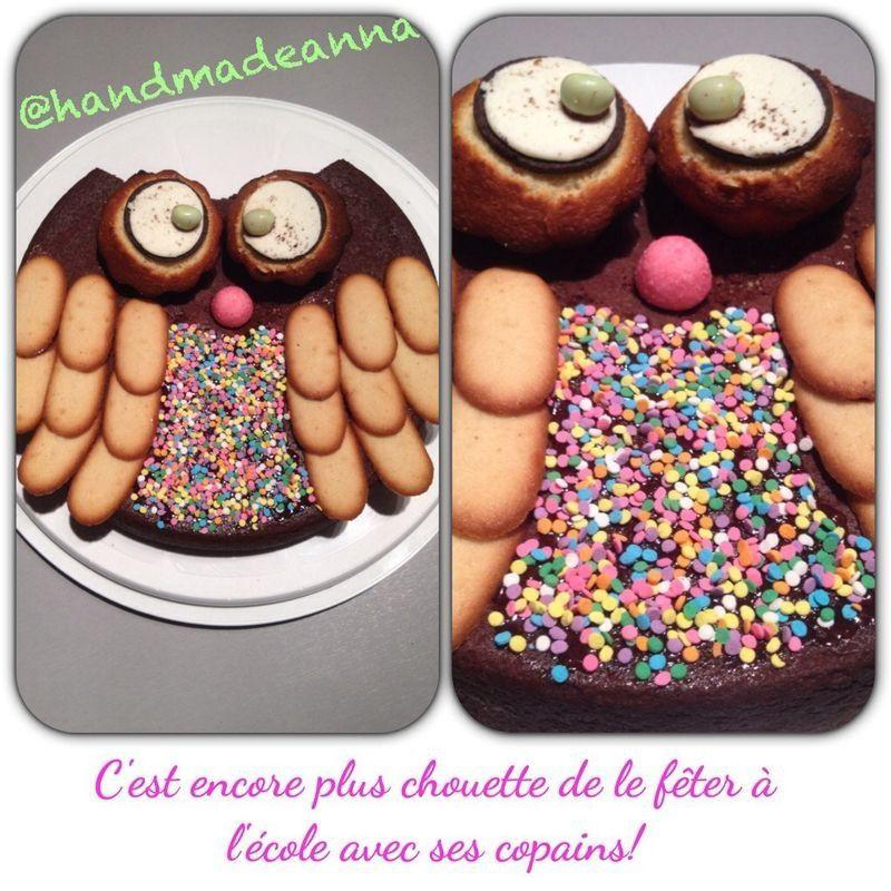 Gâteau enfant, chouette !