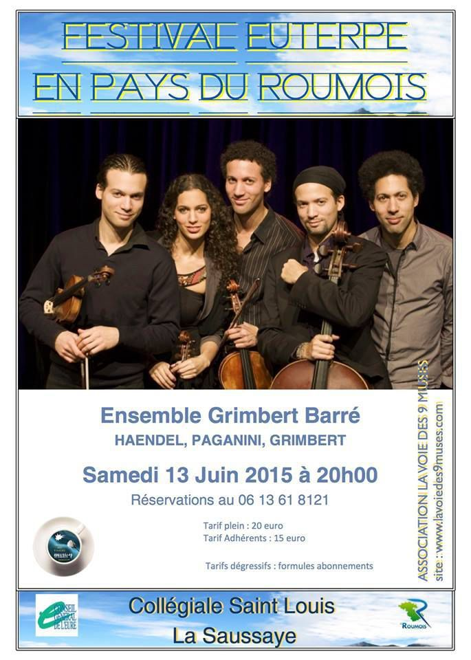 Festival Euterpe en Pays du Roumois - Ensemble Grimbert Barré - Collégiale Saint-Louis, Place du Cloître, 27370 La Saussaye