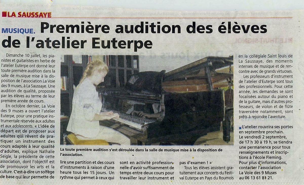 Première audition de l'atelier Euterpe