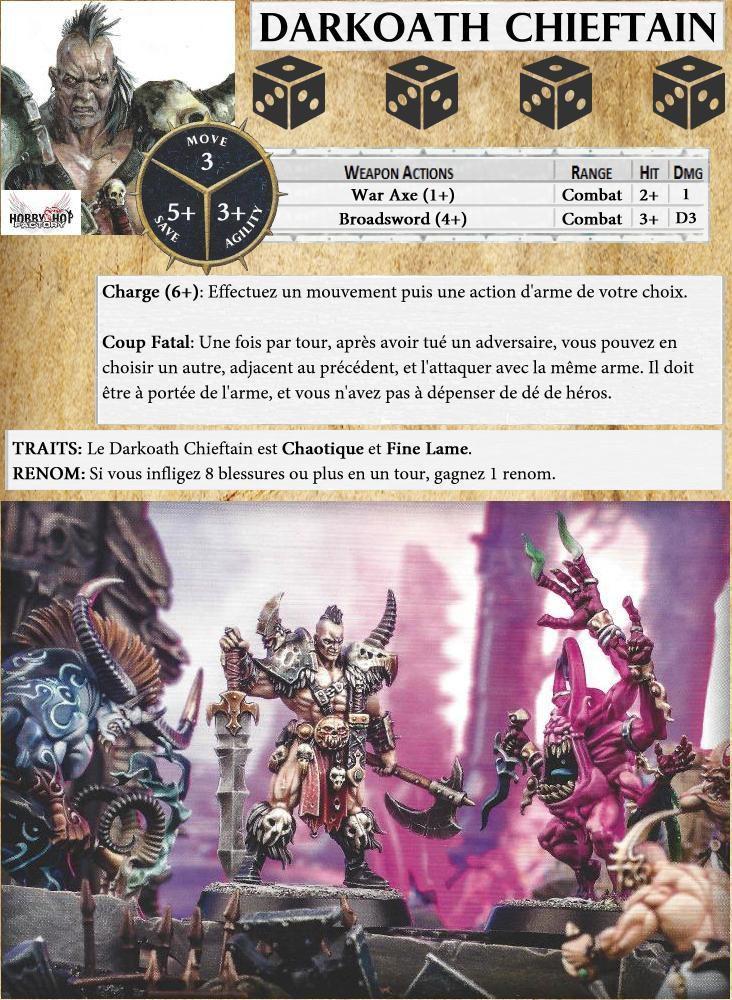 Cartes de Héros pour Warhammer Quest : Silver Tower