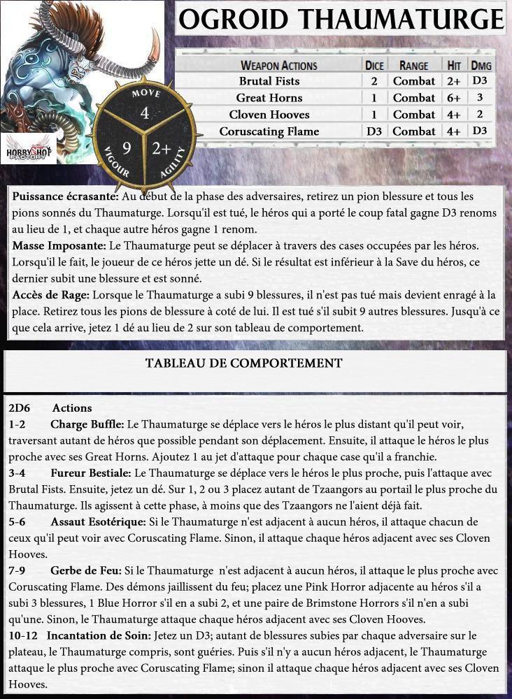 Cartes de Monstres pour Warhammer Quest : Silver Tower