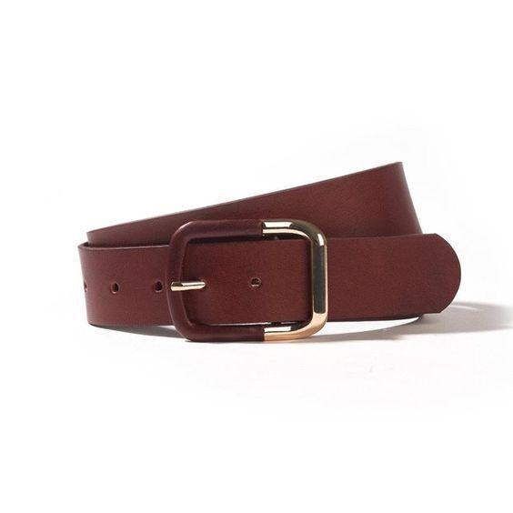 Une ceinture en cuir LAURA CLEMENT