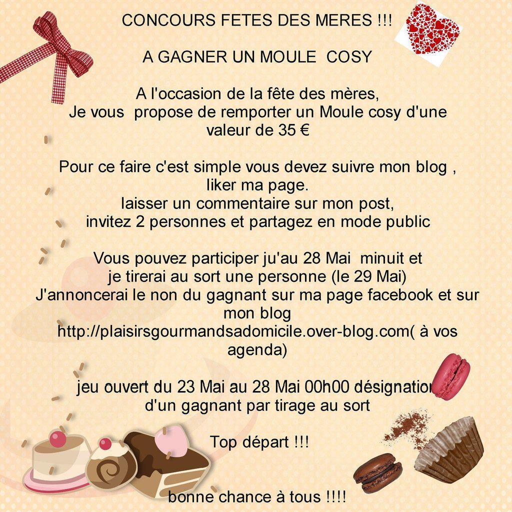 """Jeux Concours """"fêtes des Mères """" Du 23 Mai au 28 Mai 2016 Clôture 00h00"""