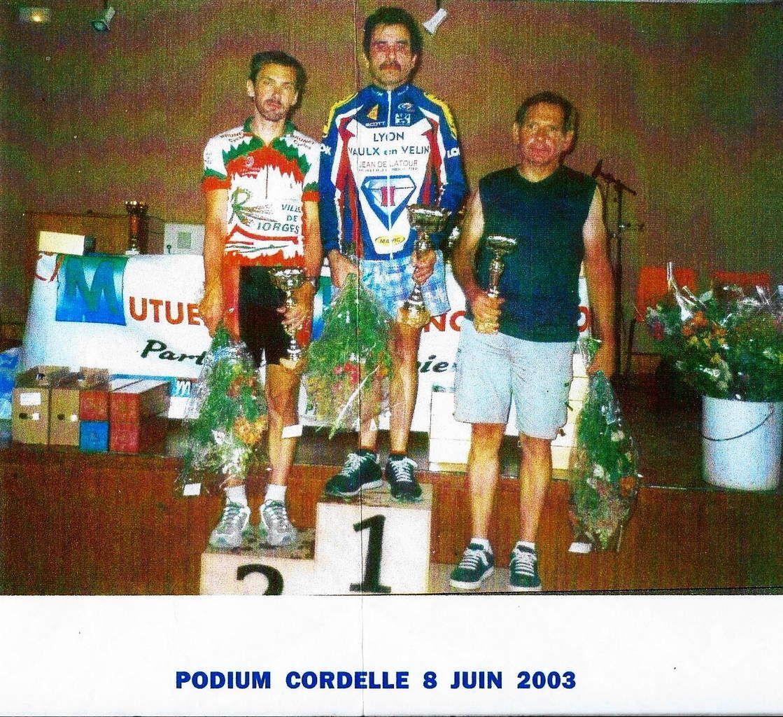 Cordelle (42) Podium championnat régional FSGT 2003 4ème catégorie - Grand prix de la ville de Vénissieux 2010