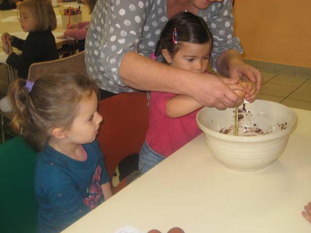 Suivi le jour J d'un atelier cuisine pour la préparation d'un cake au chOcOLAt!!!!