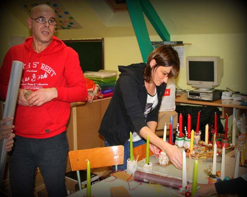 Préparation du marché de Noël 2014