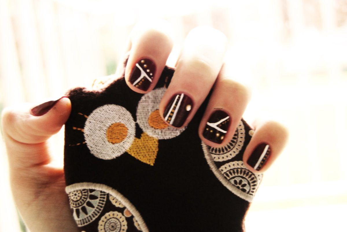 Nail art géométrique de saison