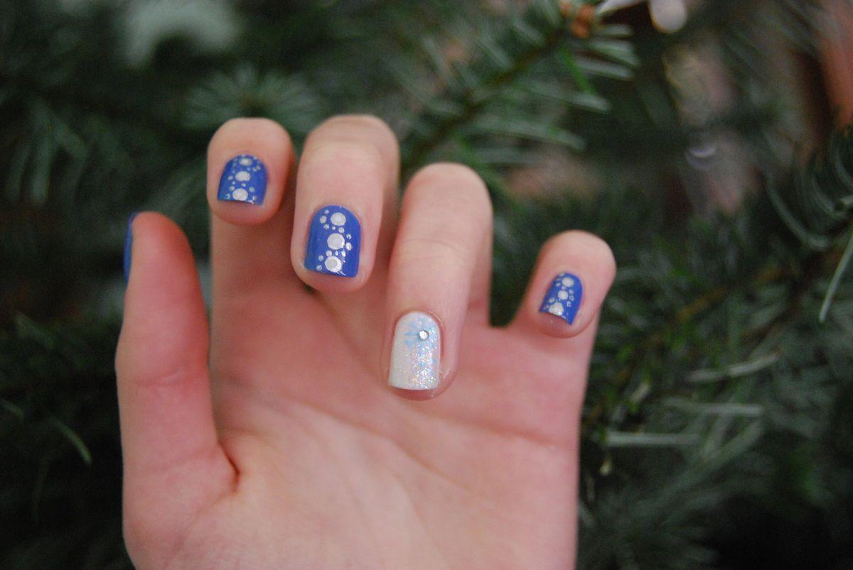 Nail art Hivernal