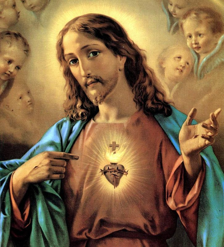 Prière de Réparation au Sacré Cœur de Jésus pour Le consoler d'avoir été blessé dans Sa chair