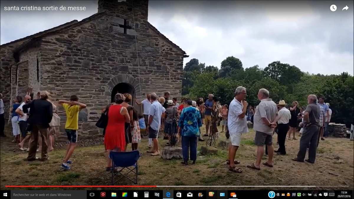 La fête de santa Cristina le 24 juillet 2016